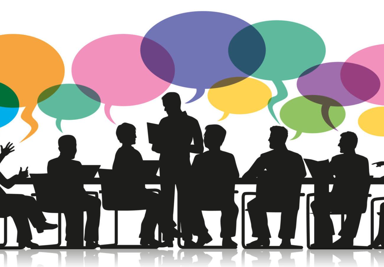 Réunion Bulles Discussion Travail D'équipe Entreprise